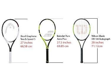 các thông số trên vợt tennis
